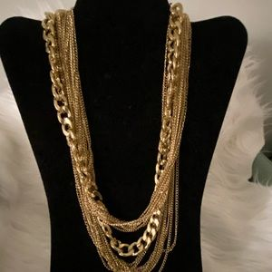 Costume style Gold link chain necklace